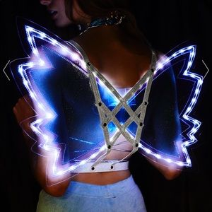LED Light Up Wings on harness